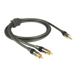 Goldkabel profi series KLINKE 3,5 mm auf CINCH STEREO